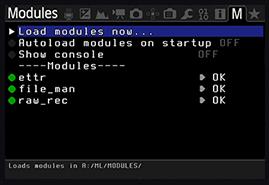 Magic Lantern - meniu module